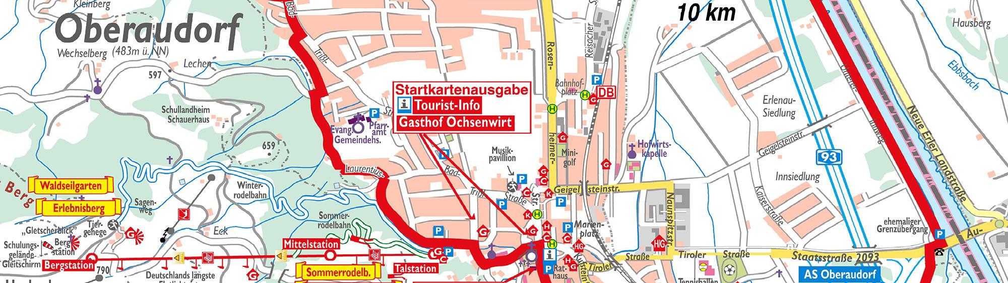 Karte Rundwanderweg