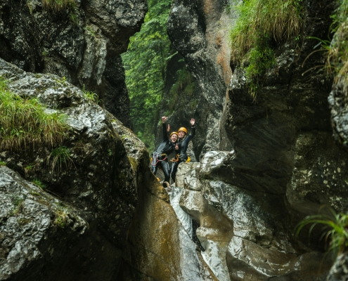 Winter Canyoning Oberaudorf | Oberbayern Bayerisches Alpenvorland