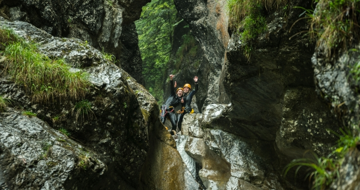 Unterwegs in den Wildwasserschluchten im Inntal