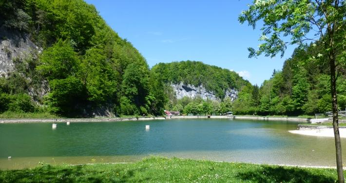 Baden im Luegsteinsee Oberaudorf