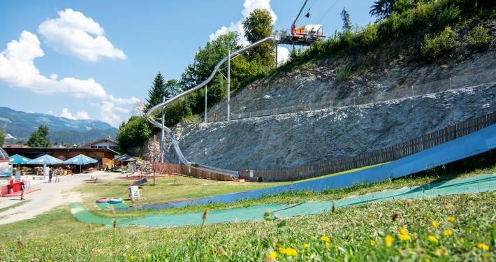 Free-Fall-Rutsche am Berg Hocheck in Oberaudorf