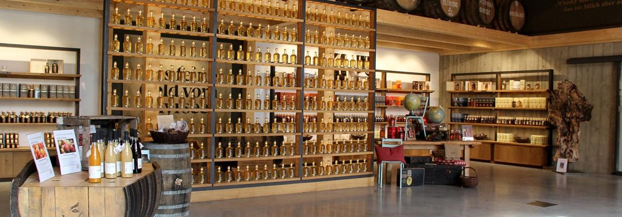 SLYRS Destillerie Verkausraum