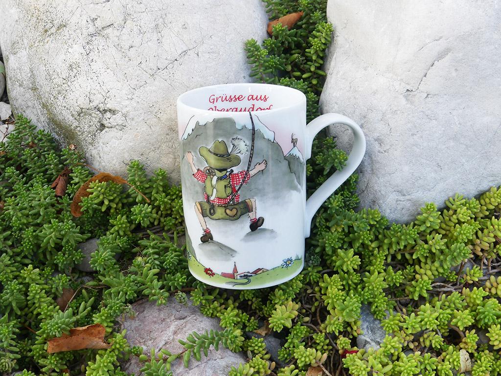 Souvenir Bergsteiger Tasse