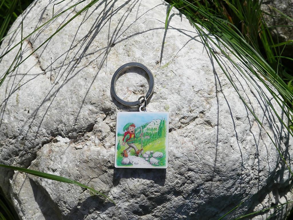 Souvenir Schlüsselanhänger Wanderzwerg