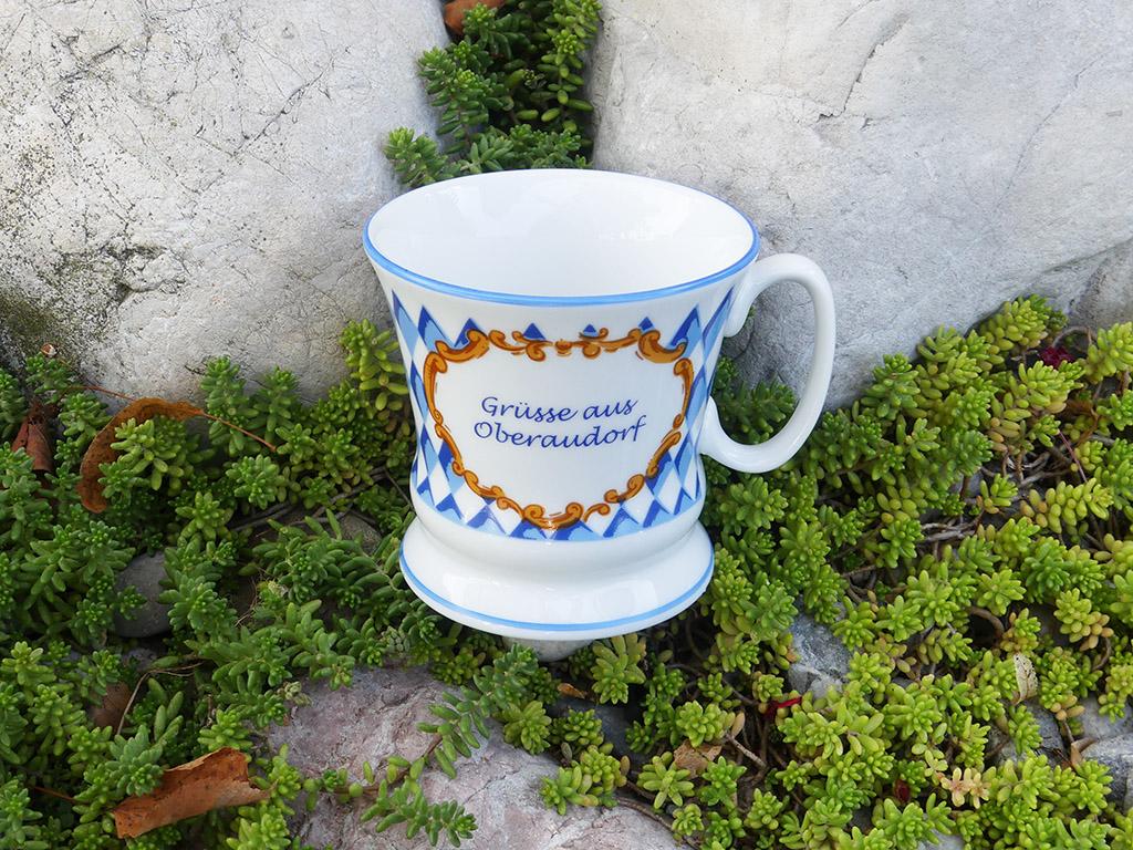 Souvenir Tasse Grüße aus Oberaudorf