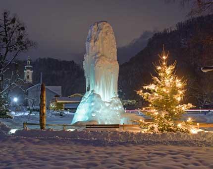 Winteransicht Kurpark Oberaudorf