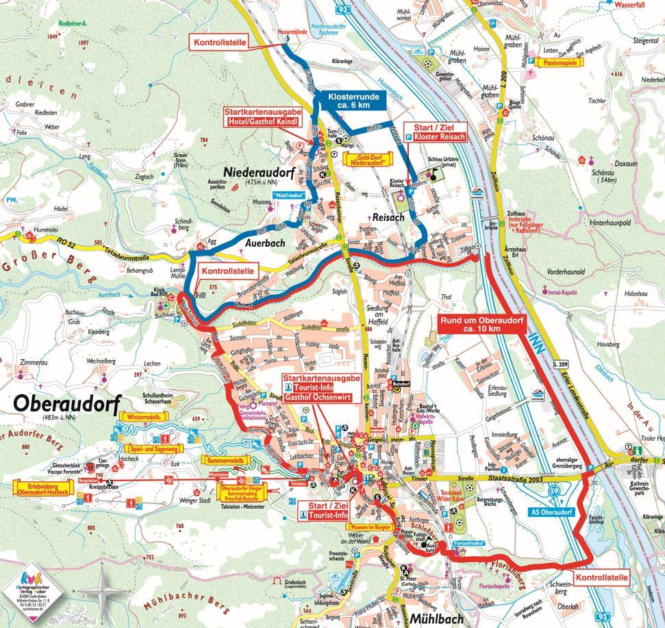 Karte Permanenter Wanderweg Oberaudrf